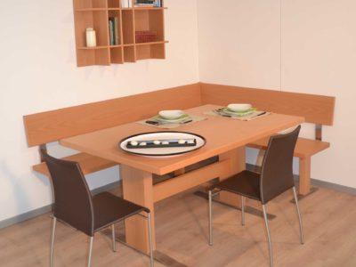 panca e tavolo girasole faggio
