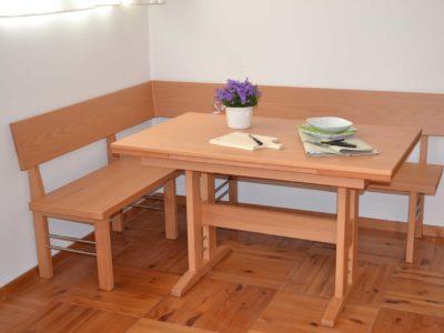 panca e tavolo tulipano