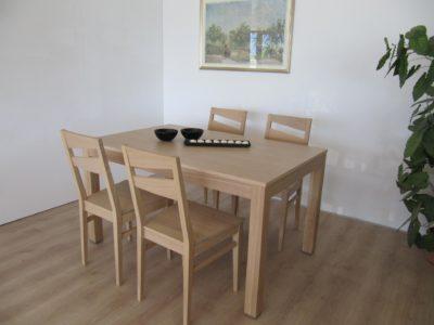 tavolo bucaneve in rovere sbiancato