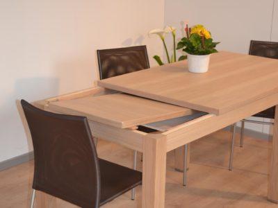 tavolo bucaneve con allunga sottopiano