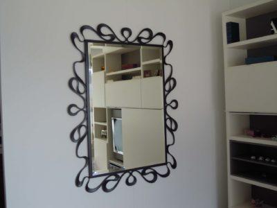 Cantori specchio in ferro battuto