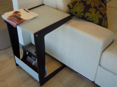 Dettagli tavolino in vetro