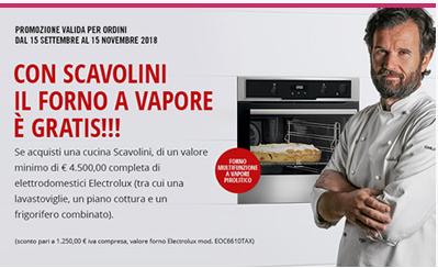 Con scavolini il forno a vapore è gratis