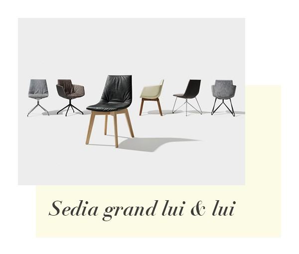 Gran sedia di design Lui di Team7