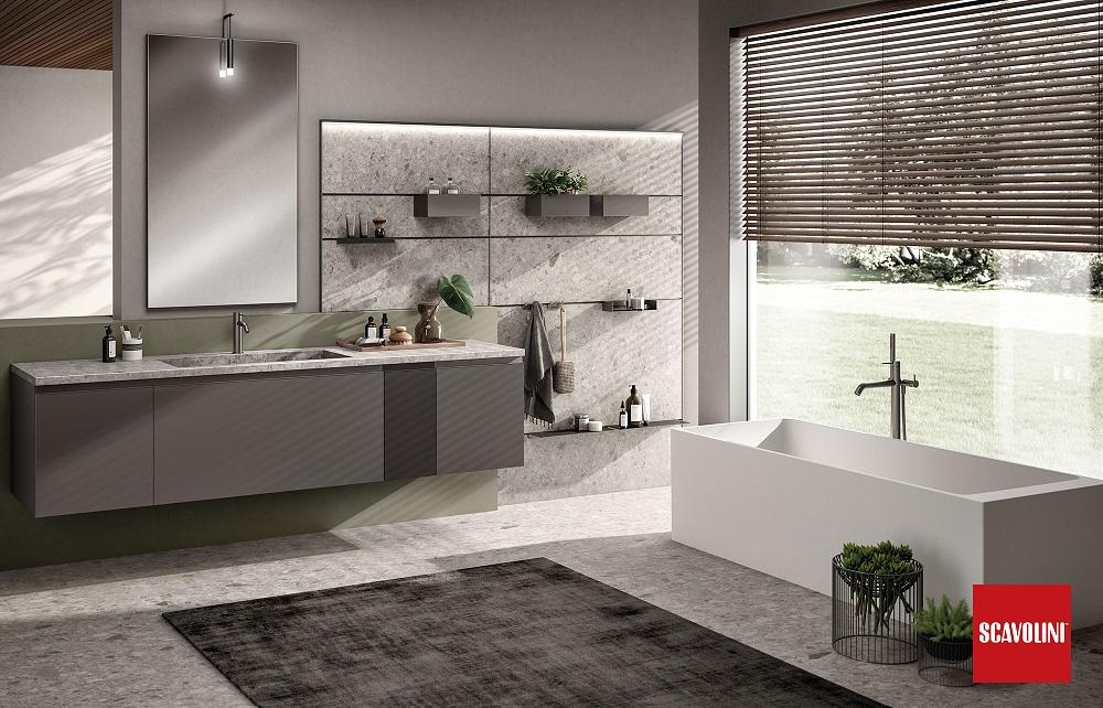 Tratto il nuovo bagno Made in Italy di Scavolini